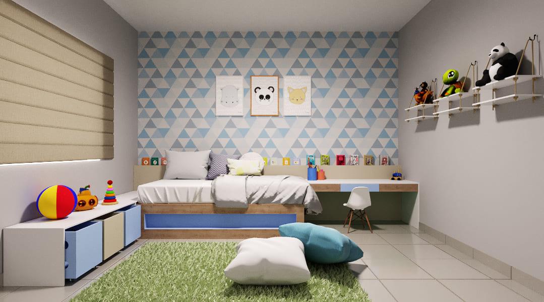 Projeto de quarto de bebê no estilo divertido