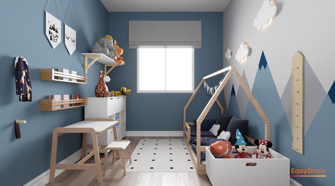 Projeto de quarto infantil no estilo cool