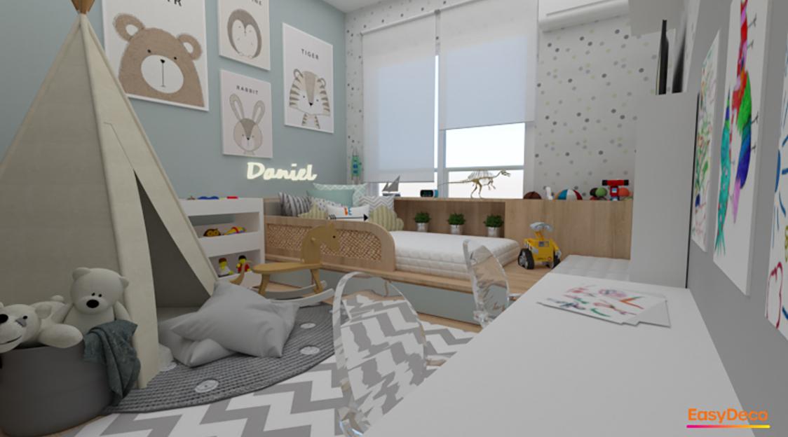 Projeto EasyDeco de quarto infantil para menino